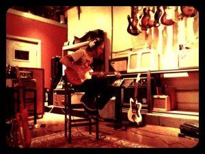 Los Coronas grababando en Tucson WaveLab Recording Studios
