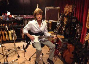 Mick Jagger en los Studios Guillaumetell  grabando GRRR! nuevo disco de The Rolling Stones