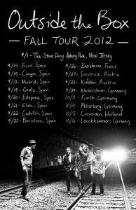 Outside the Box gira española y europea en septiembre Euro Tour