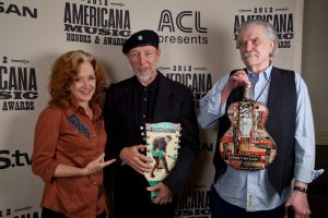 The 2012 Americana Music Awards Bonnie Raitt, Richard Thompson y Guy Clark