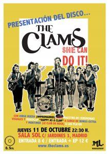 """The Clams """"She can do it!"""" concierto de presentación del nuevo disco Sala El Sol 11 de octubre 2012"""
