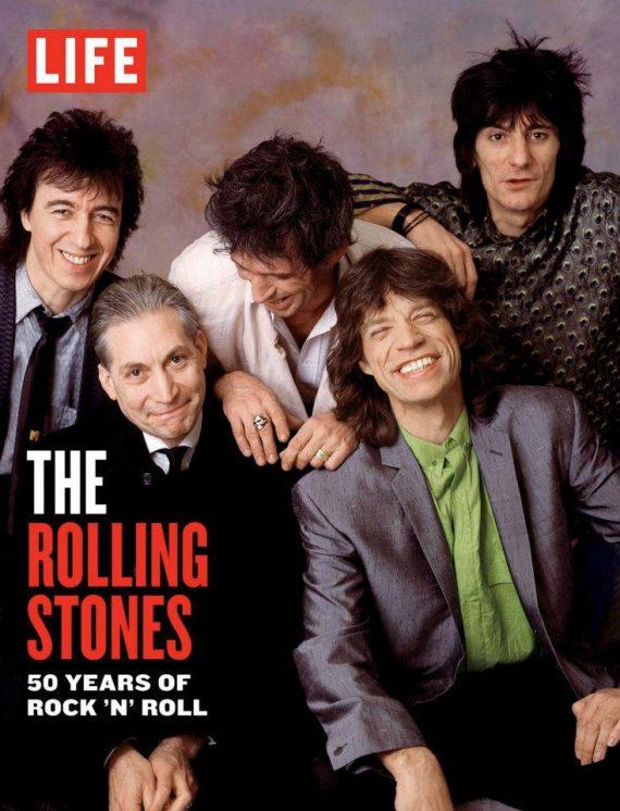 """The Rolling Stones portada en la revista LIFE. """"LIFE The Rolling Stones 50 Years of Rock and Roll"""""""