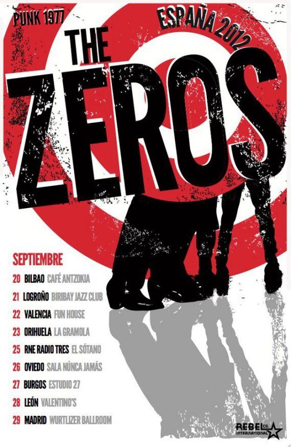 The Zeros en su nueva gira española 2012, llegan los Ramones mejicanos