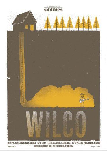 """Wilco cartel gira española octubre 2012. Ciclo """"Conciertos Sublimes"""""""