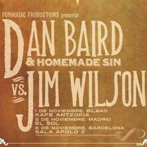 Dan Baird and Homemade Sin y Jim Wilson concierto conjunto noviembre 2012