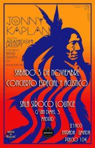 Jonny Kaplan y Brad Smith Madrid Sala Siroco Lounge 3 de noviembre 2012