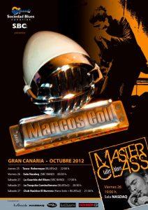Marcos Coll mini gira en Gran Canaria a través de la Sociedad Blues Canarias en octubre