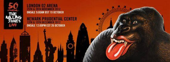 The Rolling Stones 50 counting Live London O2 Arena 25 y 29 de Noviembre y Newark, New Jersey, Newark Prudential Center 13 y 15 de diciembre