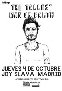 "The Tallest Man on Earth gira española de presentación ""There's No Leaving Now"""