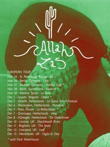 Allah Las 2012 gira europea y Madrid 30 de noviembre