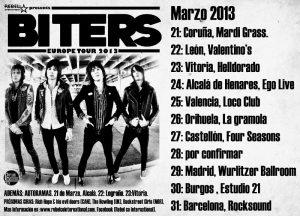 Biters gira española 2013