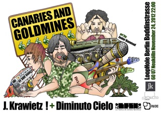 Canaries and Goldmines, gira alemana de J. Krawietz y Diminuto Cielo
