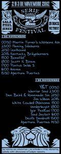 Cartel del Serie Z Festival 2012 Jerez de la Frontera