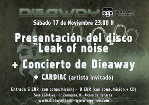 """Dieaway en concierto para presentar su nuevo disco """"Leak of Noise"""" 2012"""