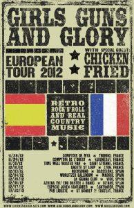 Girls Guns and Glory gira española y europea 2012 European Tour Spain France