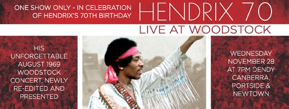Hendrix 70 Live At Woodstock 2012 nuevo film documental de Jimi Hendrix