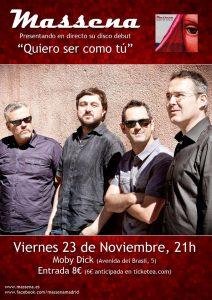 """Massena """"Quiero ser como tu"""", nuevo disco y presentación en Madrid 23 noviembre 2012"""
