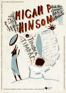 Micah P. Hinson & The Junior Arts Collective gira española presentando Micah P. Hinson and The Lonsome. Diseño del cartel Coqué Azcona 2012
