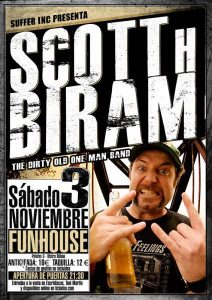 Scott H. Biram en Madrid 3 de noviembre 2012 gira española y Europea