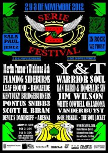 Serie Z Festival 2012 2 y 4 de noviembre Jerez de la Frontera.