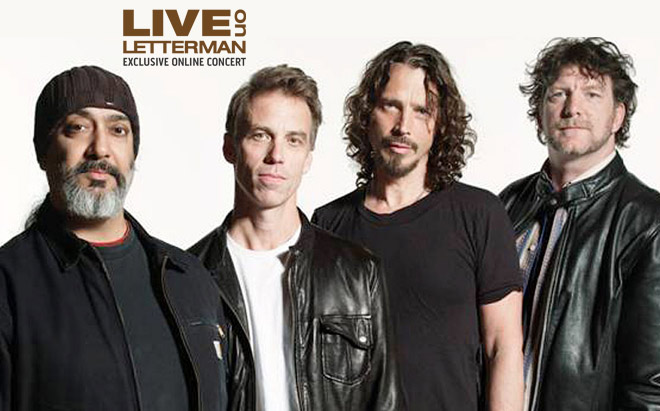 Soundgarden King Animal desde el Live on Letterman en el Ed Sullivan Theatre de Nueva York