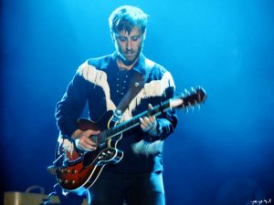 Dan, de The Black Keys en el Palacio de Congresos de Madrid (foto: Sergio Gil) Madrid 2012