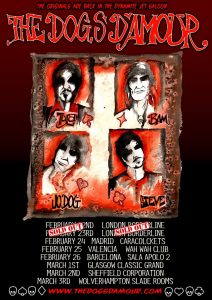 The Dogs D'Amour European Tour 2013 gira europea