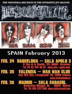 The Dogs D'Amour gira en España en febrero 2013 Barcelona Valencia y Madrid
