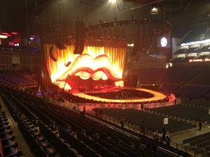 The Rolling Stones escenario Mark Fisher O2 London Arena, 25 noviembre 2012.