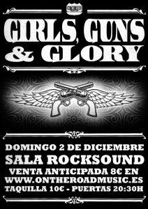 Girls Guns & Glory Gira española Rocksound Barcelona