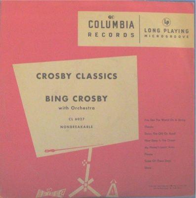 Howard H. Scott primeros LP de 33 rpm de musica popular de la historia Bing Crosby 1948