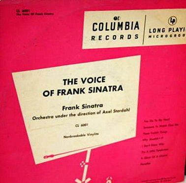 Howard H. Scott primeros LP de 33 rpm de musica popular de la historia Frank Sinatra 1948