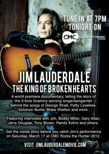 Jim Lauderdale The King of Broken Hearts documental  documentary estreno Premiere 2012