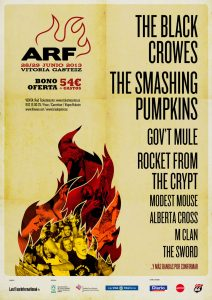 Azkena Rock Festival 2013 The Black Crowes y The Smashing Pumpkins cabezas de cartel