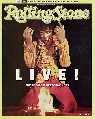 Jimi Hendrix: Foto de Ed Careff ocupando la portada de la revista musical