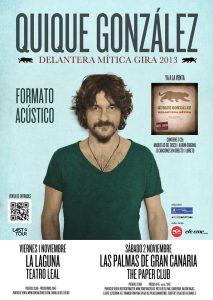 Quique González en Tenerife Teatro Leal y Las Pamas Paper Club en noviembre 2013