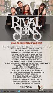 "Rival Sons ""Head Down"" gira europea 2013"
