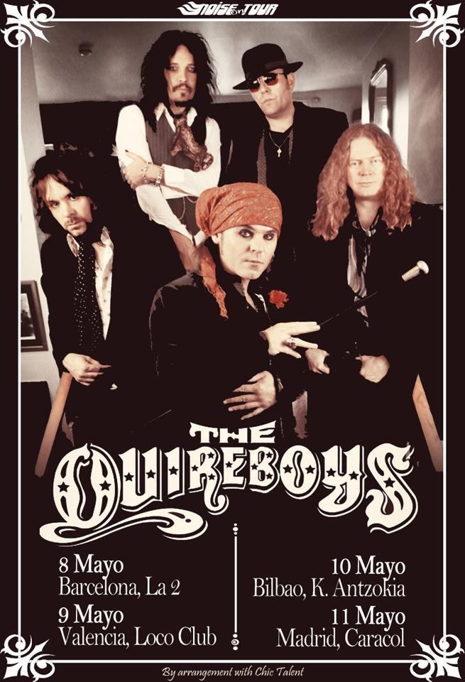 The Quireboys gira española 2013 Spain Tour