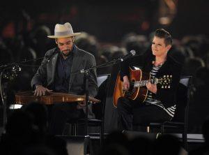 Ben Harper y Natalie Maines en Musicares de Bruce Springsteen 2013