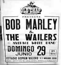 Bob Marley en Madrid 1980