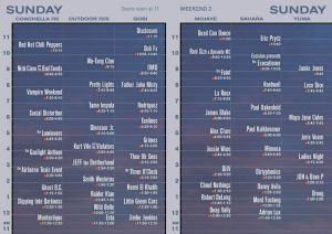 Coachella Festival 2013 horarios domingo 21 abril
