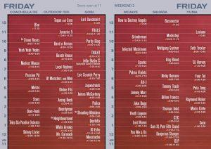 Coachella Festival 2013 horarios viernes 19 abril