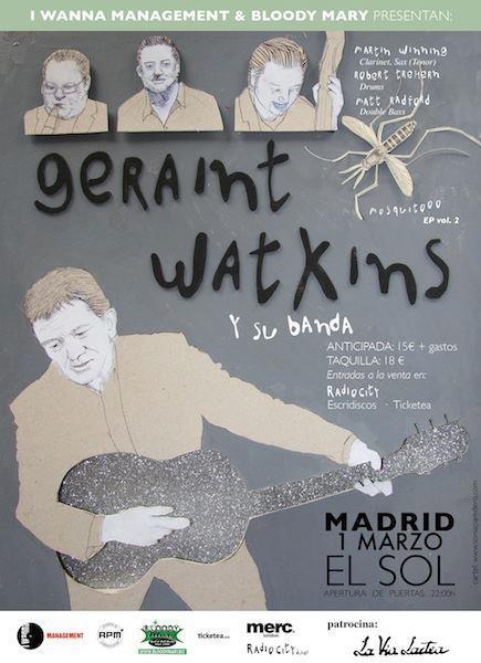 """Geraint Watkins en Madrid presentando nuevo disco """"Mosquito Vol. 2"""""""