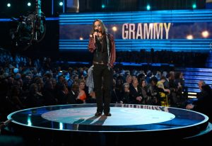 Johnny Depp en los Grammy 2013