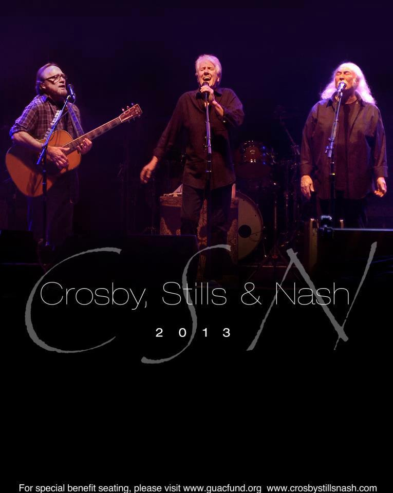 Crosby, Stills & Nash en Barcelona 8 de julio 2013 European Tour
