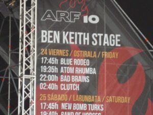 Escenario Ben Keith en el Azkena Rock Festival