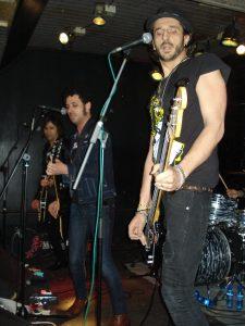 Ángeles abriendo para The Biters en Madrid 2013