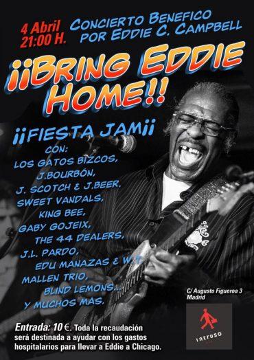 Eddie C. Campbell concierto benéfico en Madrid 4 abril 2013