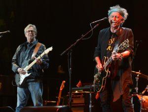 Eric Clapton y Keith Richards en el festival Crossroads Guitar 2013