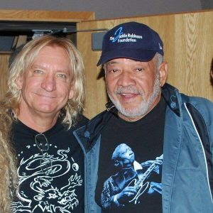 Joe Walsh y Bill Withers grabando su nuevo disco